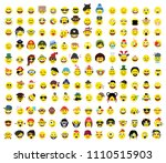 150 creative funny flat style ... | Shutterstock .eps vector #1110515903