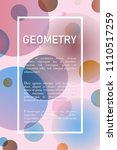 abstract geometric background... | Shutterstock .eps vector #1110517259