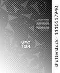 cover layout black and white... | Shutterstock .eps vector #1110517940