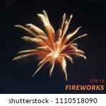 fireworks from triangles. low... | Shutterstock .eps vector #1110518090