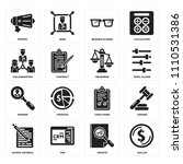 set of 16 icons such as dollar  ... | Shutterstock .eps vector #1110531386