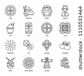 set of 16 icons such as ...