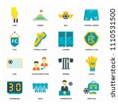 set of 16 icons such as sport...