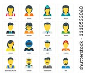 set of 16 icons such as man ... | Shutterstock .eps vector #1110533060