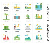 set of 16 icons such as flat ...