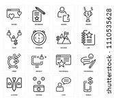 set of 16 icons such as mobile  ...