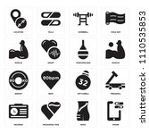 set of 16 icons such as phone ...   Shutterstock .eps vector #1110535853