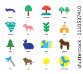 set of 16 icons such as earth...