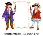 kids in  costumes | Shutterstock . vector #111054170