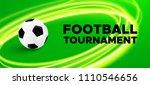 football sport poster design....   Shutterstock .eps vector #1110546656