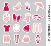 fashion stickers | Shutterstock .eps vector #111055223