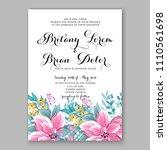 floral wedding invitation...   Shutterstock .eps vector #1110561698