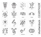 set of 16 icons such as rings ...   Shutterstock .eps vector #1110574139