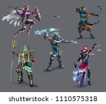 characters game  greek gods ... | Shutterstock . vector #1110575318