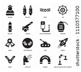 set of 16 icons such as group...
