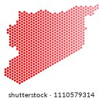 red dotted syria map....   Shutterstock .eps vector #1110579314