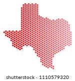 red round spot texas map....   Shutterstock .eps vector #1110579320