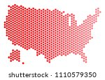 red round spot usa with alaska...   Shutterstock .eps vector #1110579350