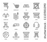 set of 16 icons such as deliver ...