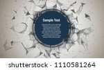 triangle mosaic vector... | Shutterstock .eps vector #1110581264
