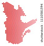 red pixelated quebec province...   Shutterstock .eps vector #1110581594