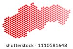 red round spot slovakia map....   Shutterstock .eps vector #1110581648