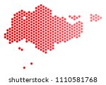 red round spot singapore map....   Shutterstock .eps vector #1110581768