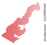 red pixelated monaco map....   Shutterstock .eps vector #1110582464