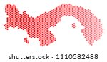 red dotted panama map....   Shutterstock .eps vector #1110582488