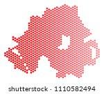 red round spot northern ireland ...   Shutterstock .eps vector #1110582494