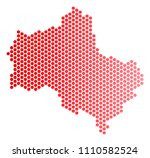 red pixelated moscow oblast map....   Shutterstock .eps vector #1110582524