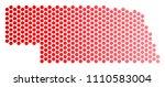 red pixelated nebraska state...   Shutterstock .eps vector #1110583004