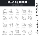 set of outline signs and... | Shutterstock .eps vector #1110583586