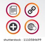 plus add circle and hyperlink... | Shutterstock .eps vector #1110584699