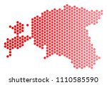 red dotted estonia map.... | Shutterstock .eps vector #1110585590