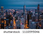 Chicago's Skyline At Blue Hour