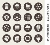 data science icon set | Shutterstock .eps vector #1110597056