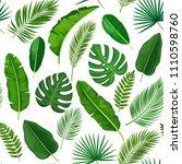 vector tropical leaves seamless ... | Shutterstock .eps vector #1110598760