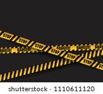 black and yellow warning sign....   Shutterstock .eps vector #1110611120