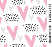seamless pattern with cute...   Shutterstock .eps vector #1110611663