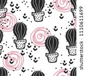 seamless pattern with cute...   Shutterstock .eps vector #1110611699