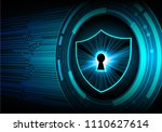 safety concept  closed padlock... | Shutterstock .eps vector #1110627614