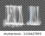 realistic waterfall set...   Shutterstock .eps vector #1110627893