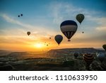 aerial view of hot air balloons ...   Shutterstock . vector #1110633950