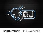 vector realistic isolated neon... | Shutterstock .eps vector #1110634340