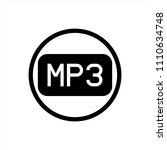 mp3 icon in trendy flat style...
