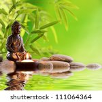 Постер, плакат: Buddha in meditation with
