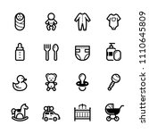 baby icons with white background | Shutterstock .eps vector #1110645809