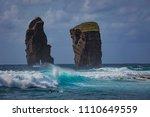 azores  atlantic ocean  san... | Shutterstock . vector #1110649559