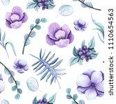 seamless pattern of watercolor... | Shutterstock . vector #1110654563